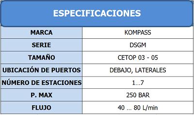 Tabla de Especificaciones1